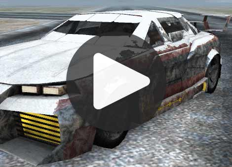 Random Racing car snow ice mobile game