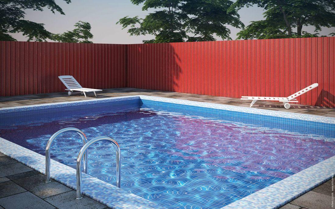 Pool Бассейн 3dsmax vray photoshop