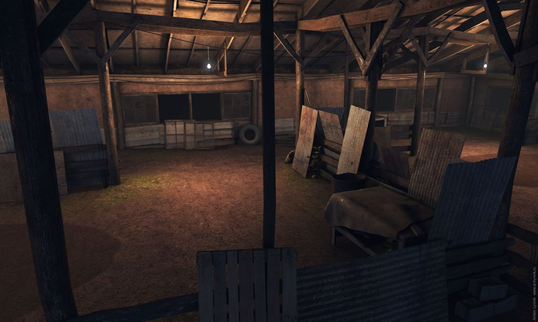 Warehouse Склад blender glsl photoshop