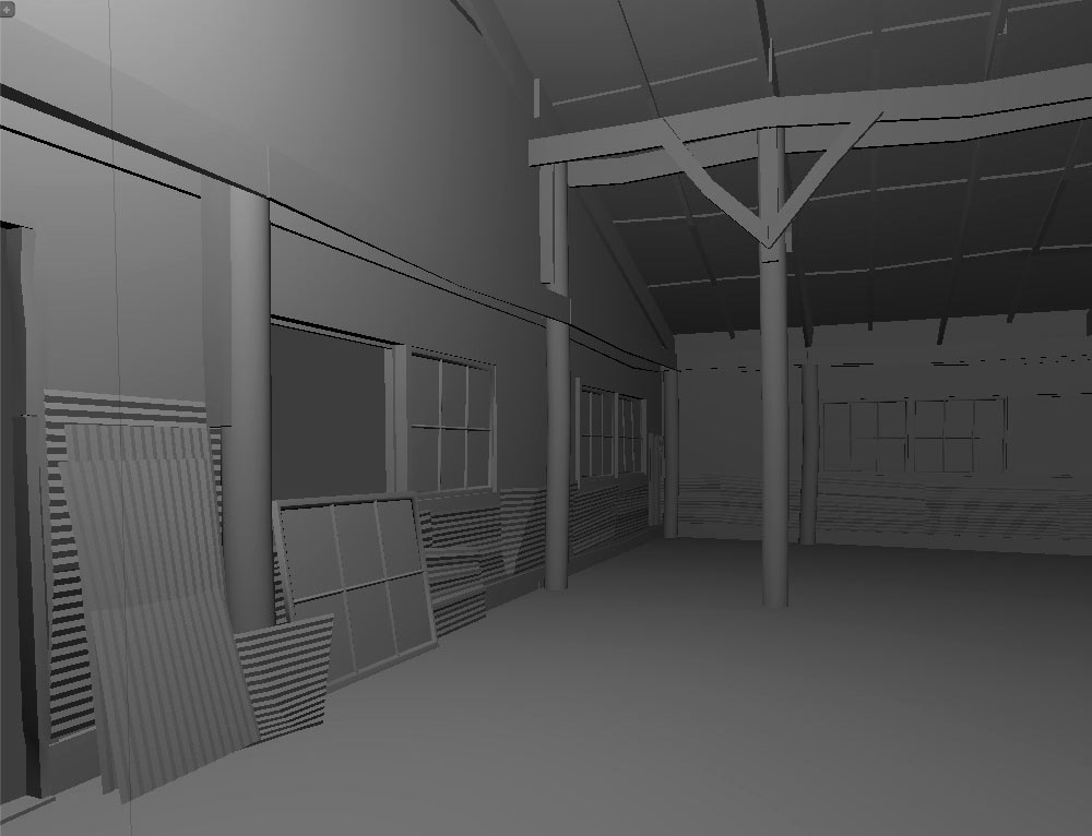 Warehouse Склад blender glsl photoshop environment art